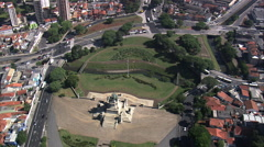 AERIAL Brazil-Monument To The Independence Of Brazil Stock Footage