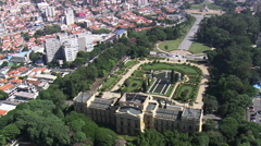 AERIAL Brazil-Paulista Museum - stock footage