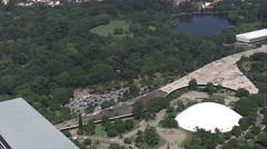 AERIAL Brazil-Sa~O Paulo Botanical Garden - stock footage