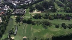 AERIAL Brazil-Sa~O Paulo Golf Club - stock footage