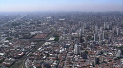AERIAL Brazil-Latin America Memorial - stock footage
