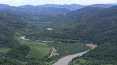 AERIAL Brazil-Rio Ribeira De Iguape Stock Footage