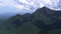 AERIAL Brazil-Serra Do Mar Mountain Range Stock Footage