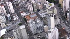 AERIAL Brazil-Palacio Avenida - stock footage