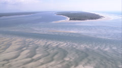 Estuary And Inlet In Parque Do Superagui - stock footage