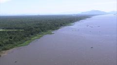 AERIAL Brazil-Approaching Iguape Stock Footage