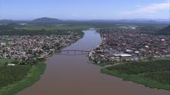 AERIAL Brazil-Ilha Comprida Stock Footage