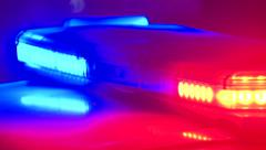 Flashing Police Lights (With effect) Stock Footage