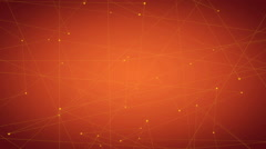 Connected Looping Background, orange Stock Footage