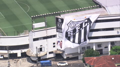 AERIAL Brazil-Estadio Ulrico Mursa Stock Footage