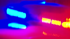 Flashing Police Lights (Slow effect) Stock Footage
