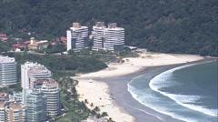 AERIAL Brazil-Development On Edge Of National Park Stock Footage
