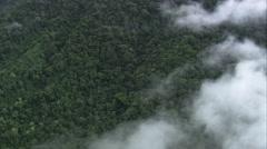 AERIAL Brazil-Southern Edge Parque Nacional Da Serra Da Bocaina - stock footage