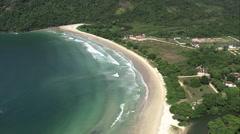 AERIAL Brazil-Praia De Lopes Mendes Stock Footage