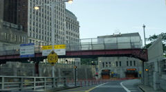 Approaching entering and driving through Brooklyn-Battery Tunnel in NYC 4K Stock Footage