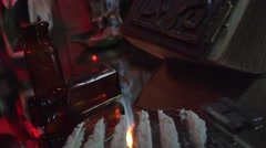 Cocaine lines and devil worship Stock Footage