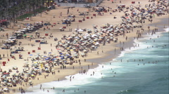 AERIAL Brazil-Ipanema And Copacabana Beaches - stock footage