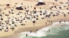 AERIAL Brazil-Copacabana Stock Footage
