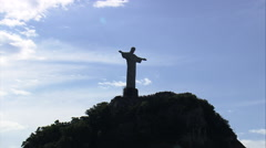 AERIAL Brazil-Santa Marta Favela - stock footage