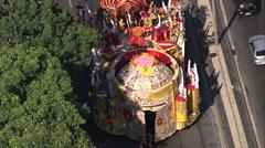 AERIAL Brazil-Sambadromo Stock Footage