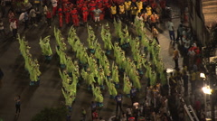 AERIAL Brazil-Getting Ready For The Carnival Parade Stock Footage