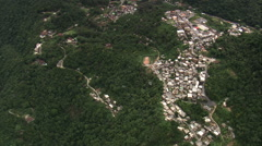 AERIAL Brazil-Villages And Towns In The Mountains Stock Footage
