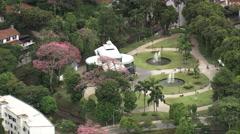 AERIAL Brazil-Palacio De Cristal Stock Footage