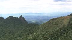 AERIAL Brazil-Parque Nacional Da Serra Dos Orgao Stock Footage