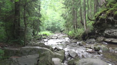 A mountain river, song Stock Footage