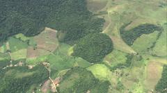 AERIAL Brazil-Orange Groves Near Serra Dos Oᆬ_ハᆬ_ツRga~Os Stock Footage