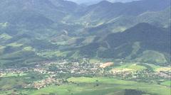 AERIAL Brazil-Wooded Hills Near Serra Dos Oᆬ_ハᆬ_ツRga~Os Stock Footage