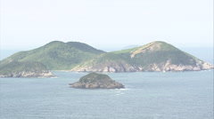 AERIAL Brazil-Islands Off The Coast At Cabo Frio Stock Footage