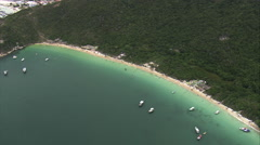 AERIAL Brazil-Praia Do Forno Stock Footage