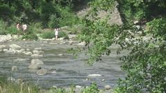 Hutsul region, a mountain river Stock Footage