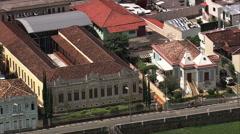 AERIAL Brazil-Igreja Nossa Senhora Do Rosario Stock Footage