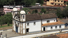 AERIAL Brazil-The Six Linked Chapels Stock Footage