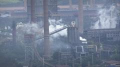 AERIAL Brazil-President Arthur Bernardes Steel Plant Stock Footage