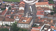 AERIAL Brazil-Ouro Preto Churches Stock Footage