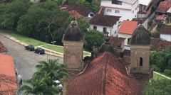 Stock Video Footage of AERIAL Brazil-Basilica Of St Peter Of Clerics