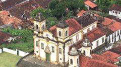 AERIAL Brazil-Nossa Senhora Do Carmo And De Sᆬ_ニo Francisco De Assis Stock Footage