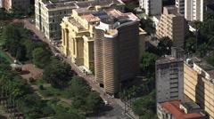 AERIAL Brazil-Edificio Niemeyer Belo Horizonte Stock Footage