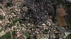 AERIAL Brazil-Favela Santa Lucia - stock footage