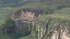 AERIAL Brazil-Cachoeira Do Tabuleira Stock Footage