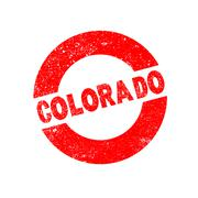 Rubber Ink Stamp Colorado - stock illustration