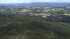 AERIAL Brazil-Pan Across Landscape, Minas Gerais State Stock Footage