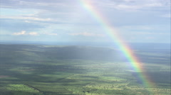 AERIAL Brazil-Rainbow, South Of Brasilia - stock footage