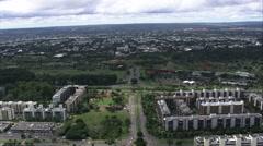 AERIAL Brazil-Parque Da Cidade Stock Footage