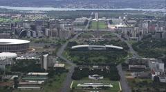 AERIAL Brazil-Eixo Monumental Stock Footage