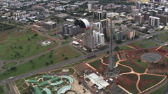 AERIAL Brazil-Tv Tower Stock Footage