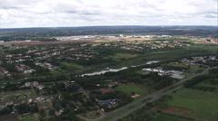AERIAL Brazil-Brasilia Airport Stock Footage